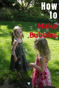 How to make bubbles from scratch