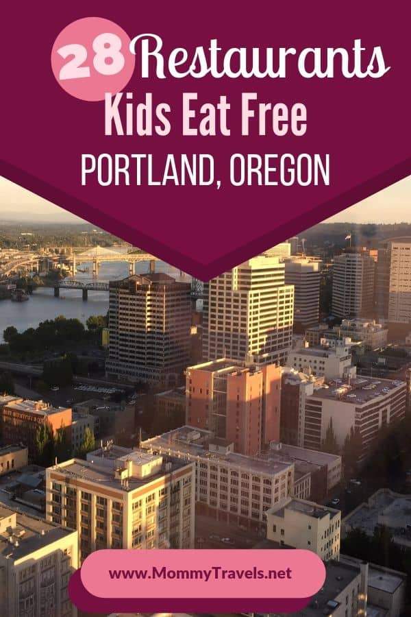 28 Restaurants where kids eat free in Portland, Oregon