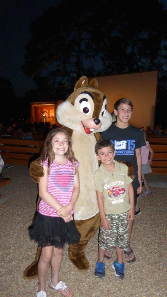 Chip N Dale Sing along at Fort Wilderness