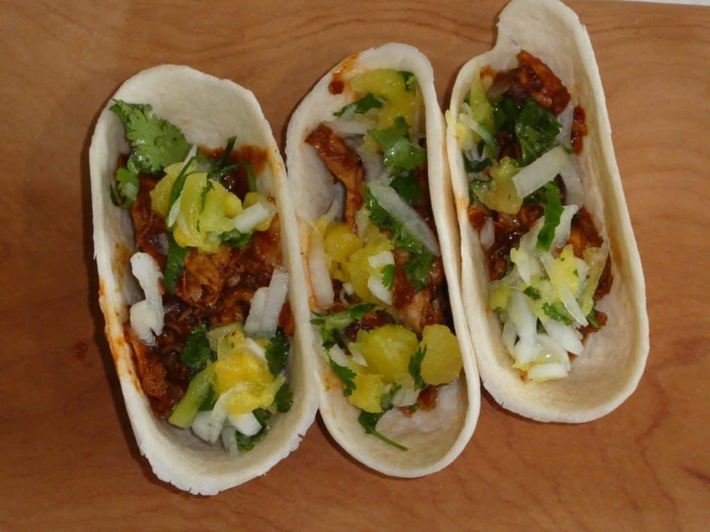 Crockpot tacos al pastor