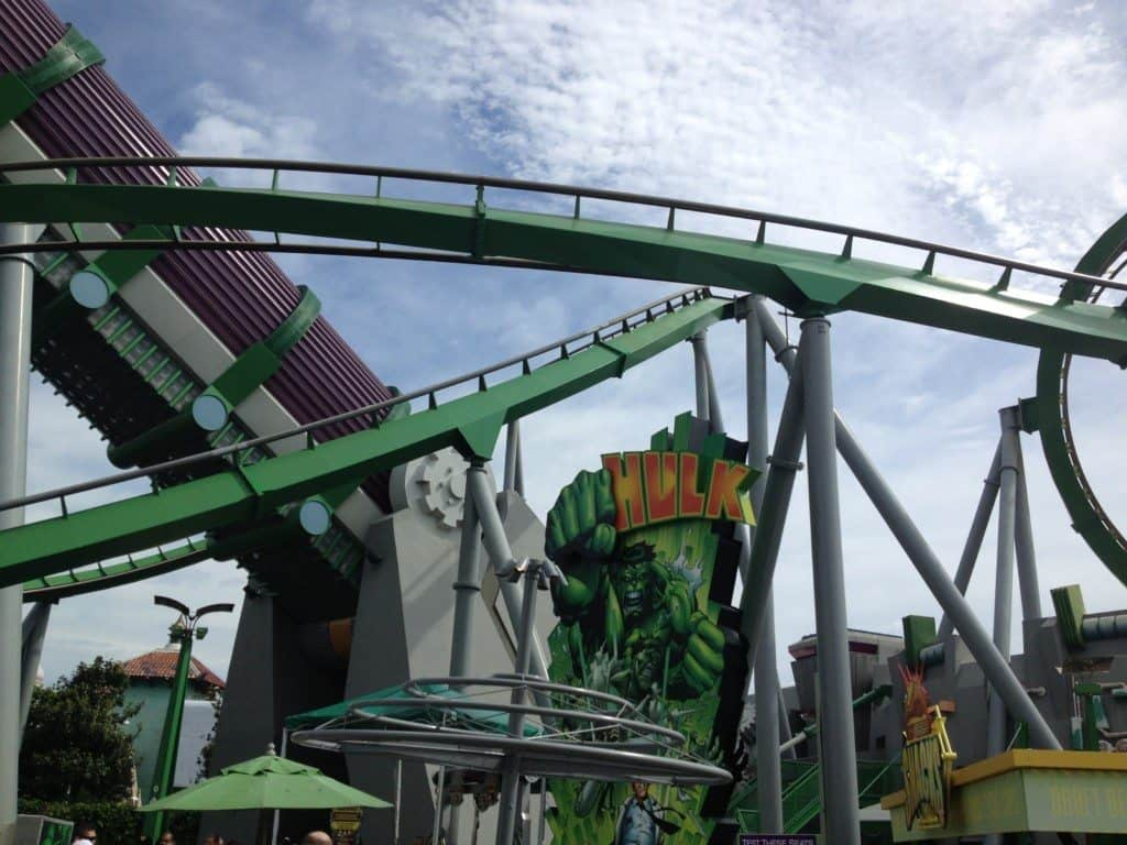 Hulk Roller coaster at Islands of Adventure