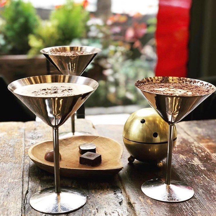 AYZA Wine & Chocolate Bar's martinis