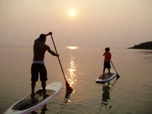Paddle boarding in Honduras