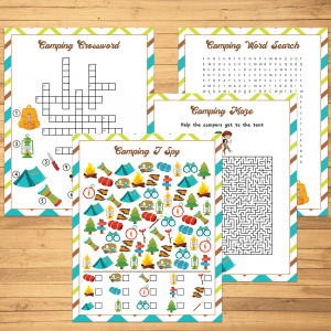 Printable Camping Games for kids