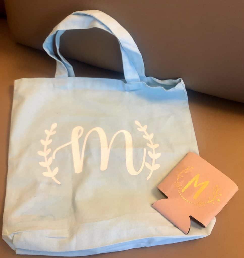 Bachelorette party favors - tote bags