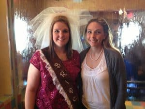 Bachelorette Party bride sash and veil