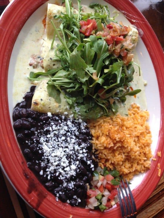 Enchiladas al pastor at Casa Del Matador in Portland, Oregon