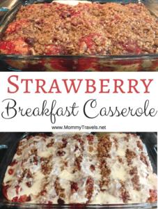 Strawberry breakfast casserole