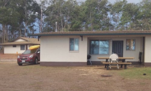 A beach cabin on Bellows AFB