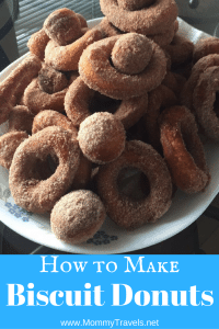 how to make biscuit donuts. That's right you can make donuts out of biscuits.