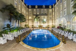 The Bourbon Orleans swimming pool in New Orleans