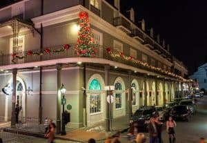 Outside the Bourbon Orleans hotel in New Orleans