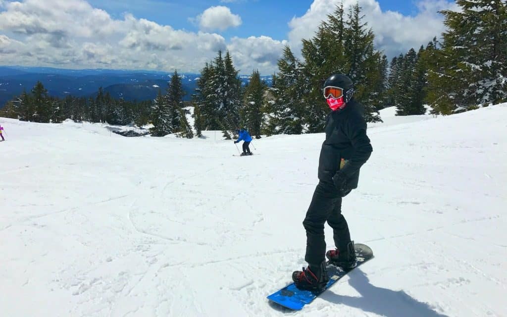 snowboarding at Timberline
