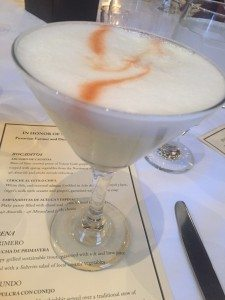 Piso sour at Andina