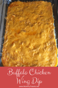 Buffalo chicken wing dip is super easy to make and tastes so good. Your guest will love it.