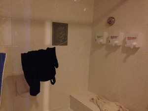 drying line in the bathroom