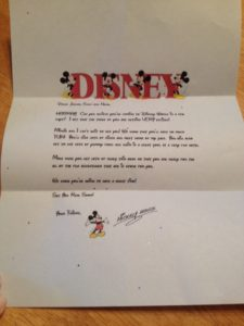 letter from mickey mouse that you can customize and printout at home