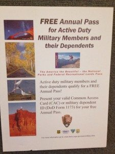 Free National Parks Pass for Military