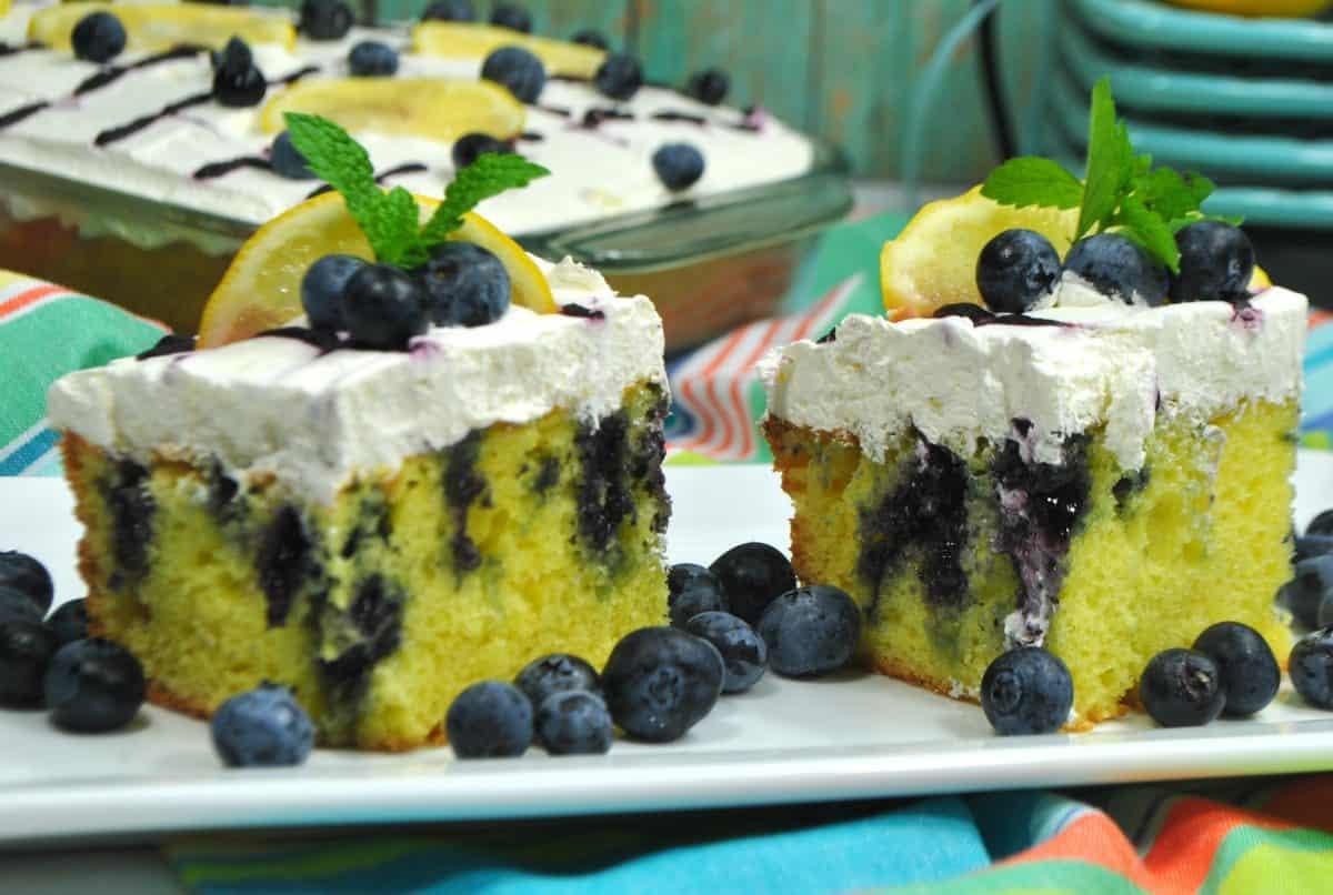 Lemon Blueberry Poke