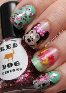 Minnie Mouse manicure ideas