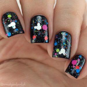 Glitter Disney nails