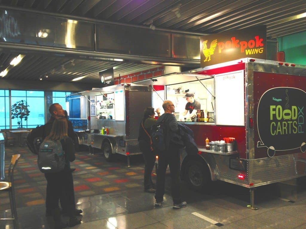 Food Carts at PDX airport