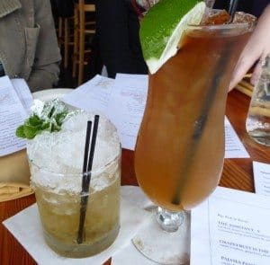 Hurricane cocktail at Acadia, the best Cajun food in Portland, Oregon