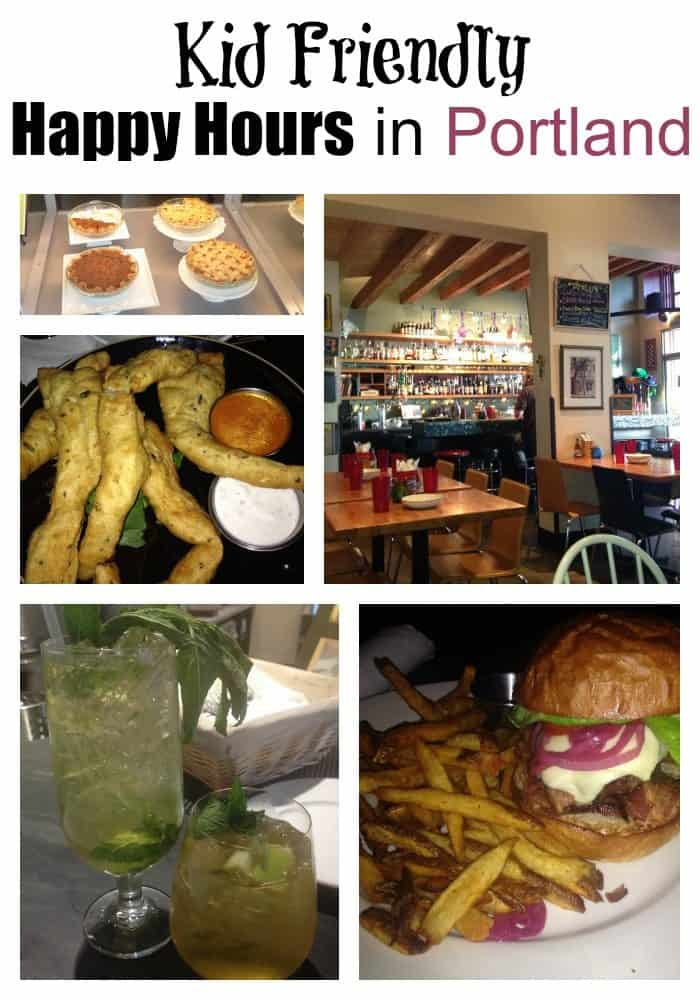 kid friendly happy hours in Portland
