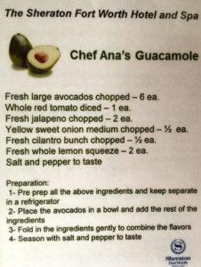 Chef Ana's guacamole