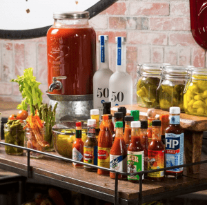 Hearthstone Kitchen + Cellar Bloody Mary Cart