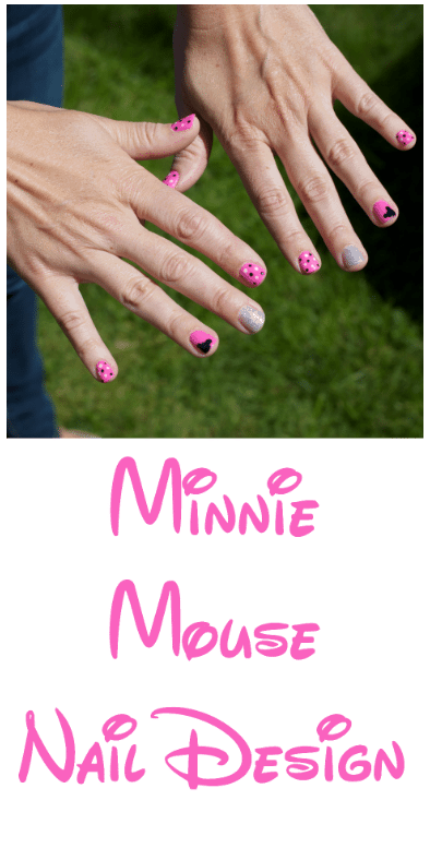Minnie Mouse nail design