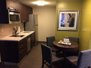 Residence Inn NYC suite kitchen