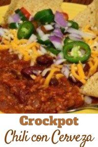 Crockpot Chili con Cerveza Recipe