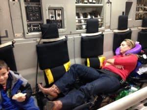 Sleeping on a military hop