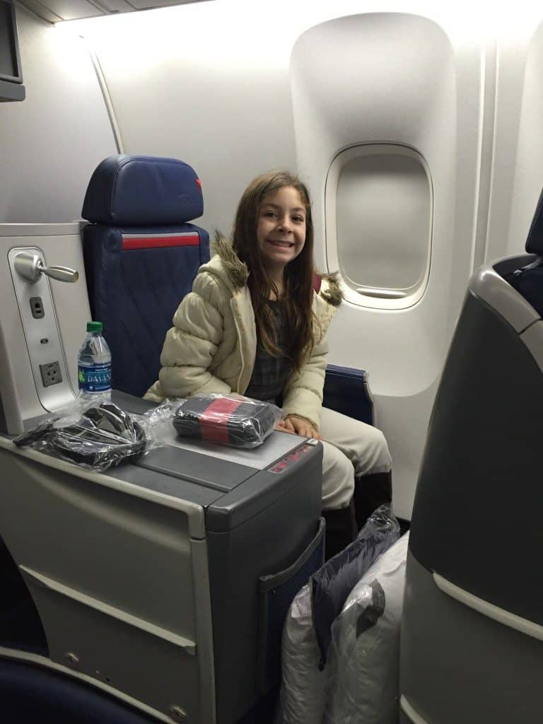 Flying Delta First Class Mommy Travels