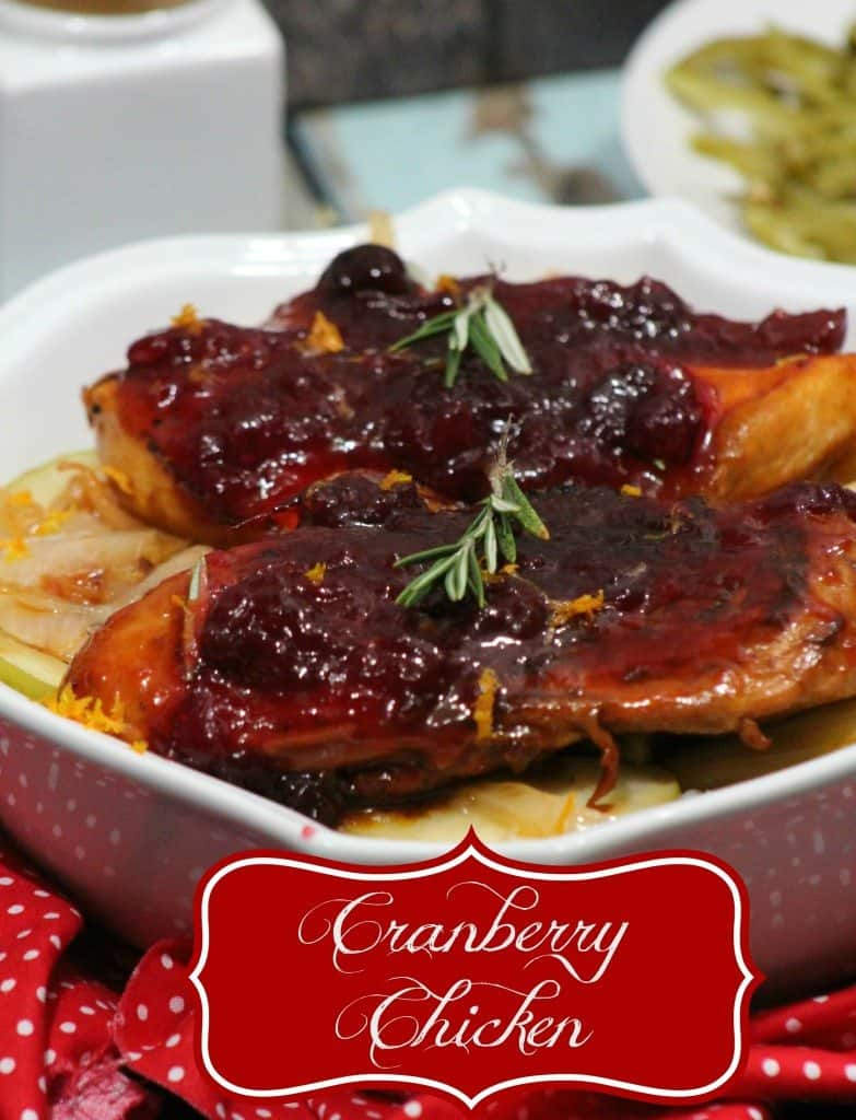 Cranberry Chicken combines sweet and savory for a delicious meal everyone loves! This Easy Chicken Recipe is a perfect Crockpot Meal on busy days!