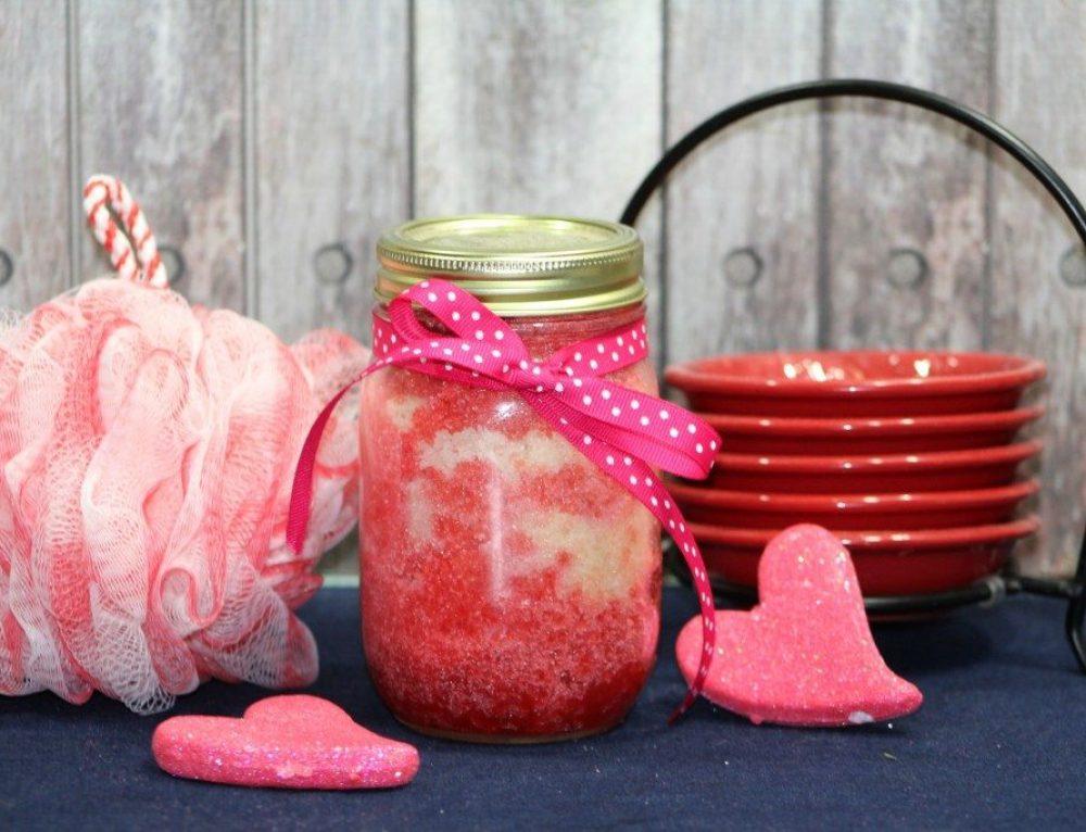 DIY Cherry Vanilla Body Scrub