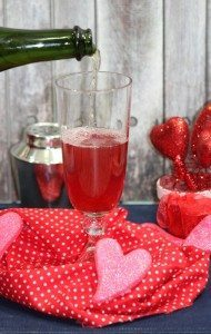 Valentines day champagne drink recipe