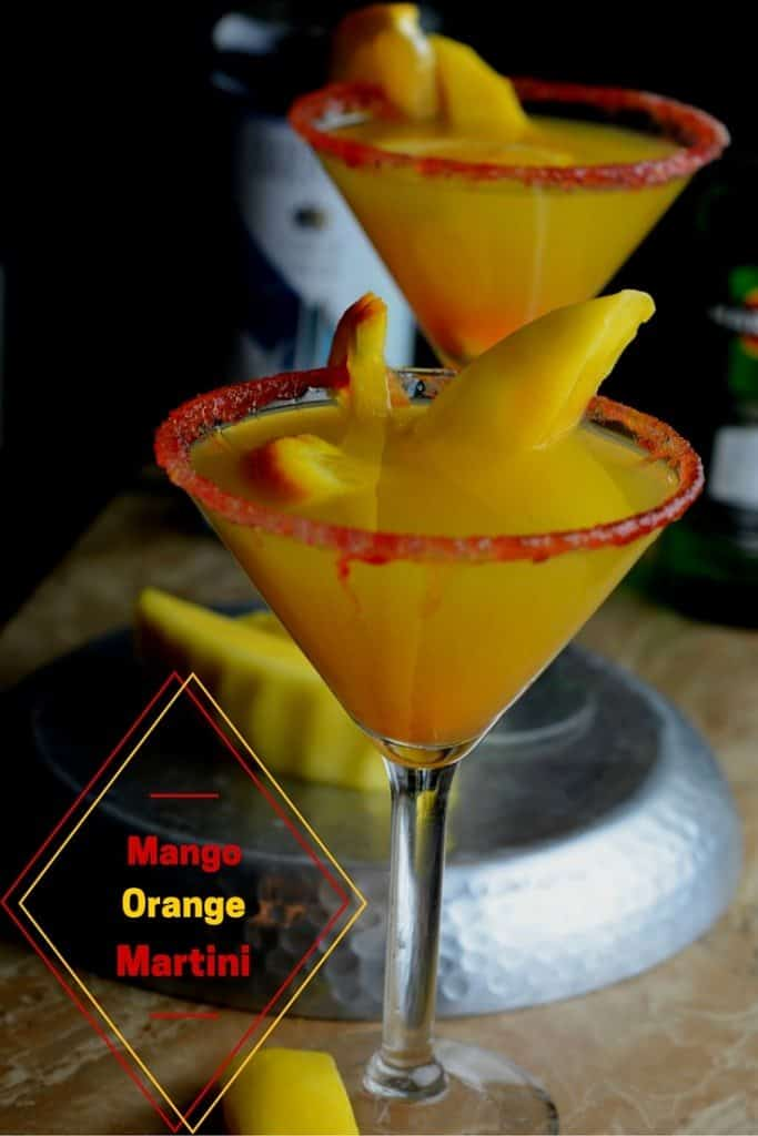 This Orange Mango Martini is a great bright and refreshing cocktail to make for friends or just a simple drink at the end of a long day!