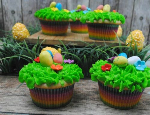 Easter Egg Vanilla Cupcake Recipe and 3 Children's Easter Party Games