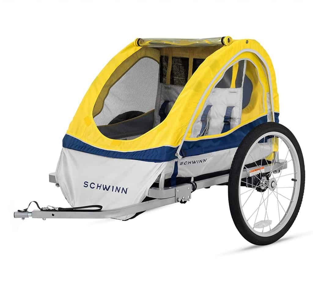 Using a bike trailer as a hiking stroller