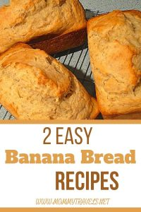 2 Easy Banana Bread recipes