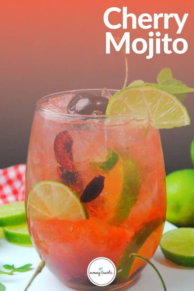 Cherry Mojito cocktail