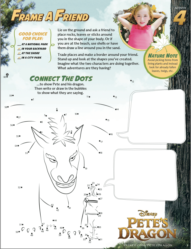 Pete's Dragon Activity Sheet