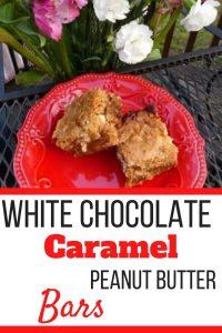 White Chocolate Caramel Peanut Butter Bars