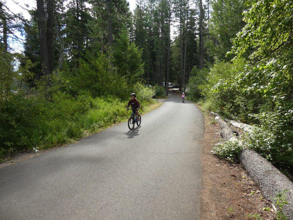 biking at Suttle Lake