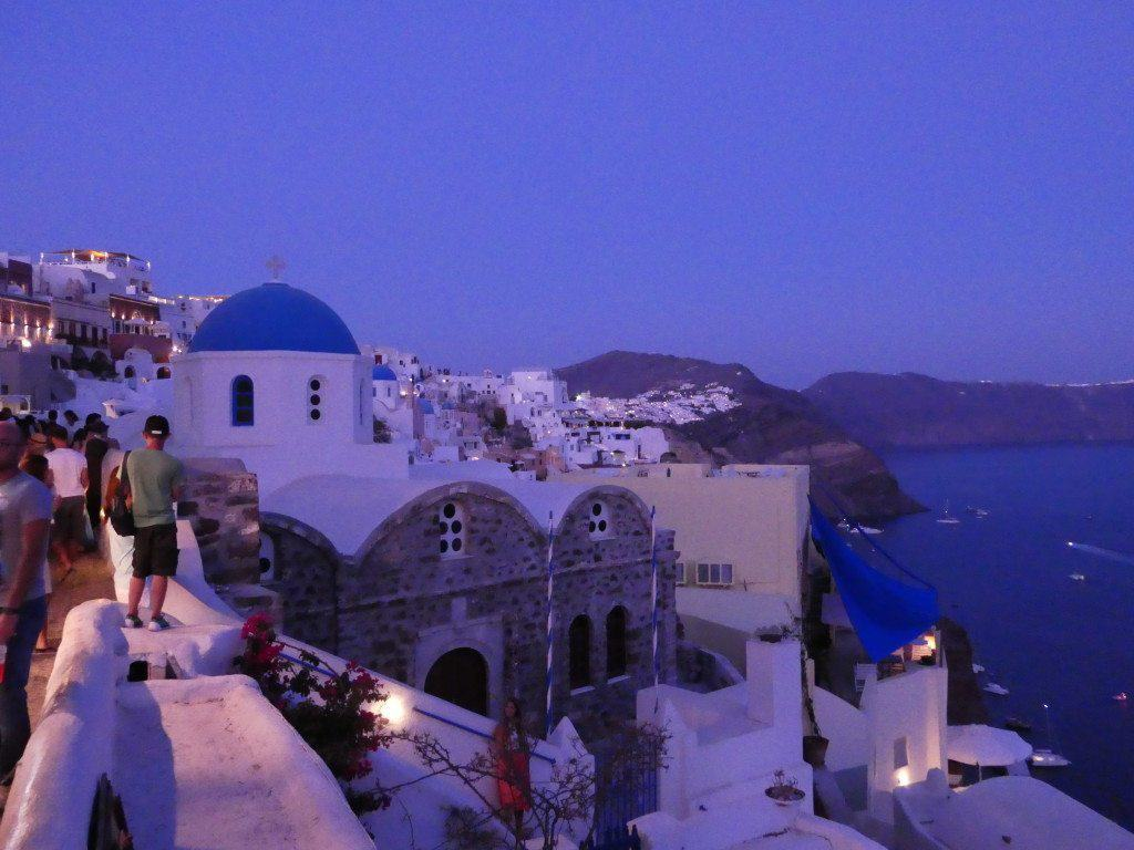 Oia Greece at night