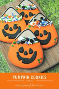 Recipe for cute pumpkin cookies perfect for fall or halloween