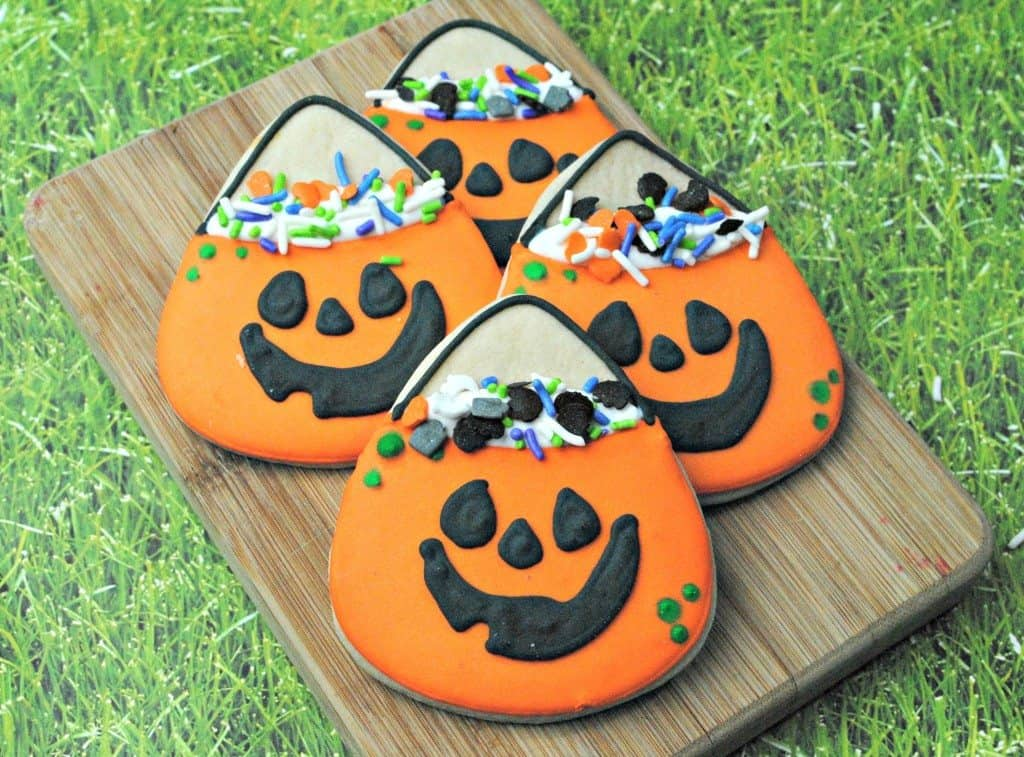 cute pumpkin cookies