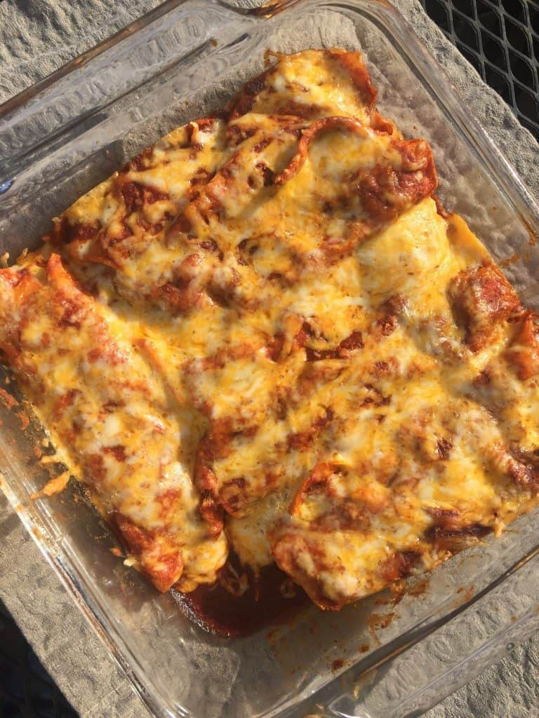 Chicken Enchiladas step by step instructions